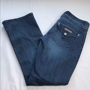 Hudson Women's Blue Dark Wash Flare Jeans